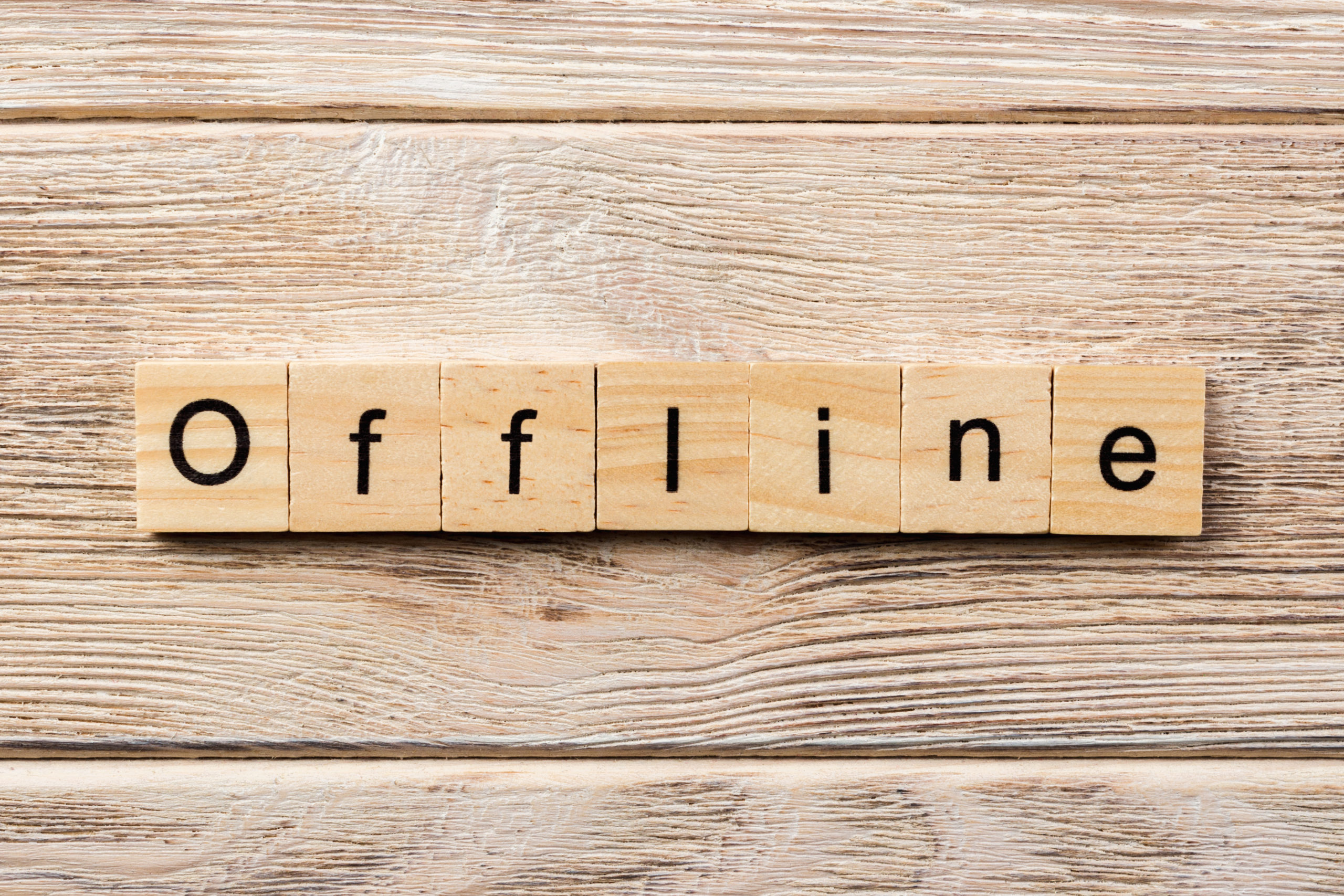 Make time to go offline